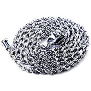 Mens Stainless Steel Franco Chain Necklace 36 Inch long