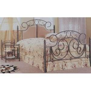 Bronze Finish Metal Bed Headboard and Footboard Furniture & Decor
