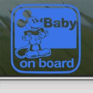 DISNEY Blue Decal MICKEY MOUSE Car Truck Window Blue