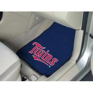 Exclusive By FANMATS MLB   Minnesota Twins 2 Piece Front Car Mats