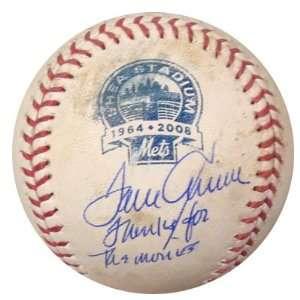 Tom Seaver Autographed Game Used Shea Stadium MLB Baseball