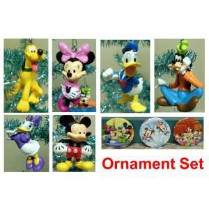 Disney Mickey Mouse Clubhouse Set of 6 Holiday Christmas