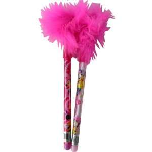 stationary supplies  Minnie Mouse feather pens 2pcs Toys & Games