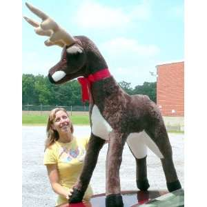 Giant Stuffed Natural Brown Deer Reindeer   Big Plush
