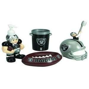 Raiders 5 Piece Team Bathroom Set   NFL Football