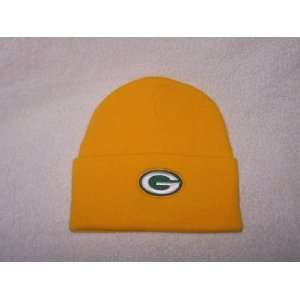 New NFL Green Bay Packers Yellow Cuffed Knit Beanie Hat