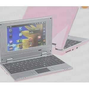 Pink 7 Mini Netbook Laptop Notebook WIFI Windows 2GB HD