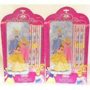 Disney Princess Tin Pencil Case and 6 Color Pencils, A set
