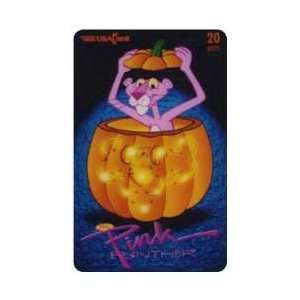 Collectible Phone Card 20u Pink Panther Inside Halloween Pumpkin (10