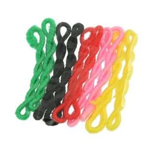 Assorted Color Elastic Hair Holder Ponytail Band Holder 5 Bags Beauty