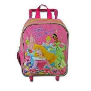 Disney Princess 11 Mini Rolling Backpack With Micro Silk