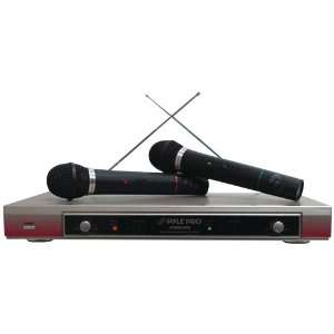 DUAL VHF WIRELESS MICROPHONE SYSTEM by PYLE PRO
