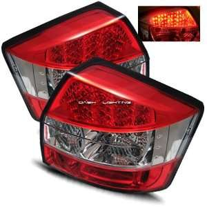 02 05 Audi A4 LED Tail Lights   Red Clear Automotive