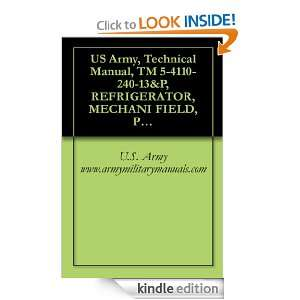 US Army, Technical Manual, TM 5 4110 240 13&P, REFRIGERATOR, MECHANI
