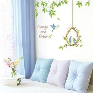 Wall Decor Removable Decal Sticker   Love Birds Under the