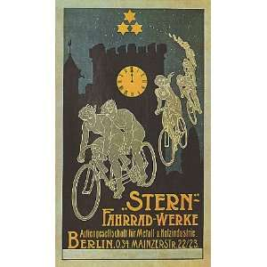 STERN BERLIN BICYCLE BIKE CYCLES SMALL VINTAGE POSTER CANVAS REPRO