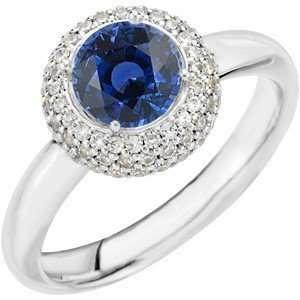 Popular Royal Blue Round Cut Blue Sapphire set in Stunning