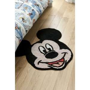 MICKEY MOUSE BLACK LARGE RUG MAT OFFICIAL LICENSED WALT DISNEY 100%