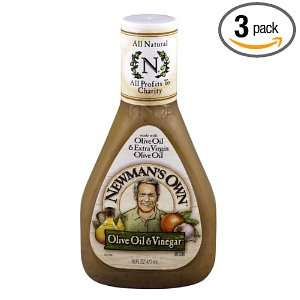 Newmans Own Salad Dressing Oil and Vinegar, 16 Ounce (Pack of 3