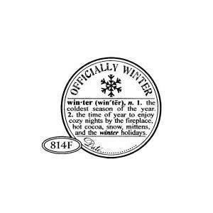 Press OFFICIALLY WINTER SEAL Rubber Stamp Arts, Crafts & Sewing