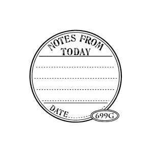 Press NOTES FROM TODAY SEAL Rubber Stamp Arts, Crafts & Sewing
