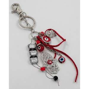 Fashion Jewelry Desinger Inspired Evil Eye and Hamsa Symbol Key Chain