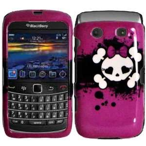 Pink Skull Hard Case Cover for Blackberry Bold 9780 9700