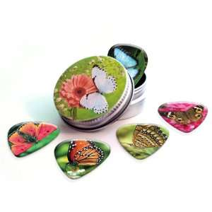 Butterfly Premium Guitar Picks x 5 With tin Musical Instruments
