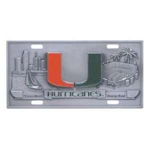 Miami Hurricanes License Plate 3D