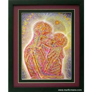 Kissing By Alex Grey ,Framed & Double Matted 12x15: Home