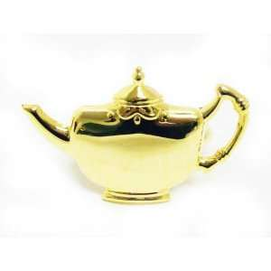 Teapot Gold plated Brass Napkin Ring, Set of 4 Kitchen