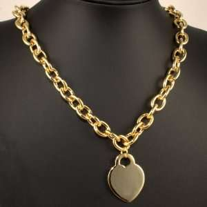 Syms Tiffany Inspired Gold Plated Heart Necklace 17 Jewelry