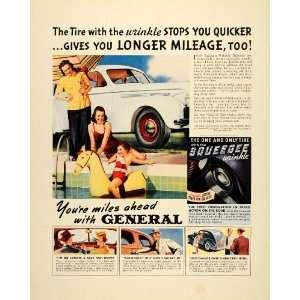 1939 Ad Squeegee Wrinkle General Tires Pool Toys Cars   Original Print