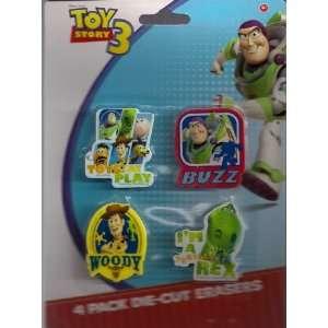 Disney Pixar Toy Story 3 Erasers (4 Pack Die Cut Erasers