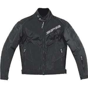 Spidi Trackster Mens Textile On Road Racing Motorcycle Jacket   Black