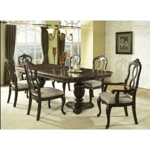 Somerton Melbourne Traditional Pedestal Formal Dining Table in Warm