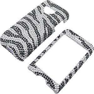 Shield Protector Case for HTC T Mobile G1, Zebra Stripes Full Diamond