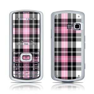Pink Plaid Design Protector Skin Decal Sticker for LG