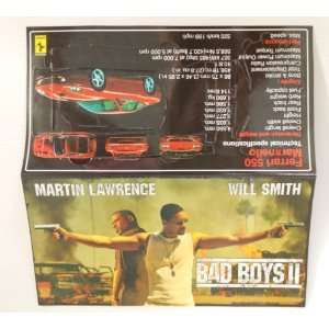 Bad Boys 2 Brochure (Comes with Ferrari 550 Paper Car)