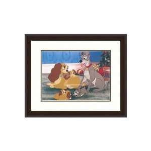 Disney Framed Art A Happy Family a Happy Ending Kids: Home & Kitchen