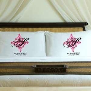 Pink Blush Perfect Panache Couples Pillow Case Set