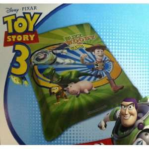 Disney Licensed Toy Story BUZZ WOODY Royal Plush Twin Blanket Throw