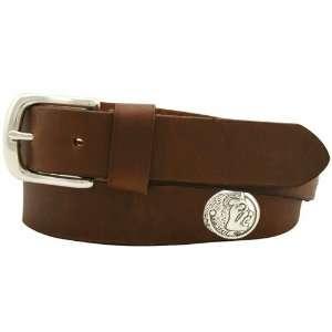 NCAA Florida State Seminoles (FSU) Brown Leather Coaches Belt