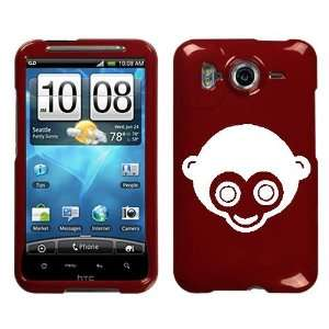 HTC INSPIRE 4G WHITE MONKEY ON A RED HARD CASE COVER