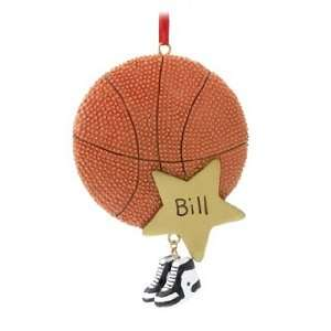 Personalized Basketball Star Christmas Ornament
