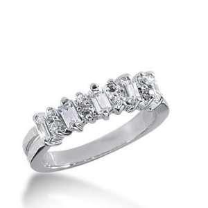 18K Gold Diamond Anniversary Wedding Ring 8 Round Brilliant