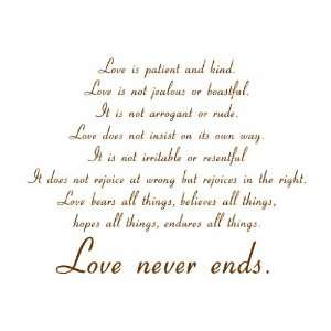 Love Is Patient and Kind Vinyl Wall Decal