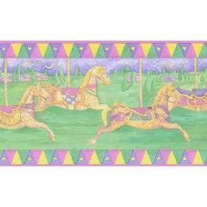 Carousel Horse Wallpaper Border