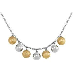 Glitter Ball Necklace 18.00 Inch CleverEve Jewelry