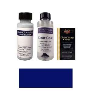 2 Oz. Deep Wedgewood Blue Metallic Paint Bottle Kit for